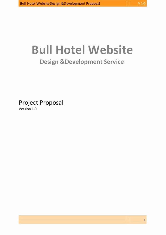 Hotel Proposal Template Fresh Proposal Bull Hotel Website Design & Development