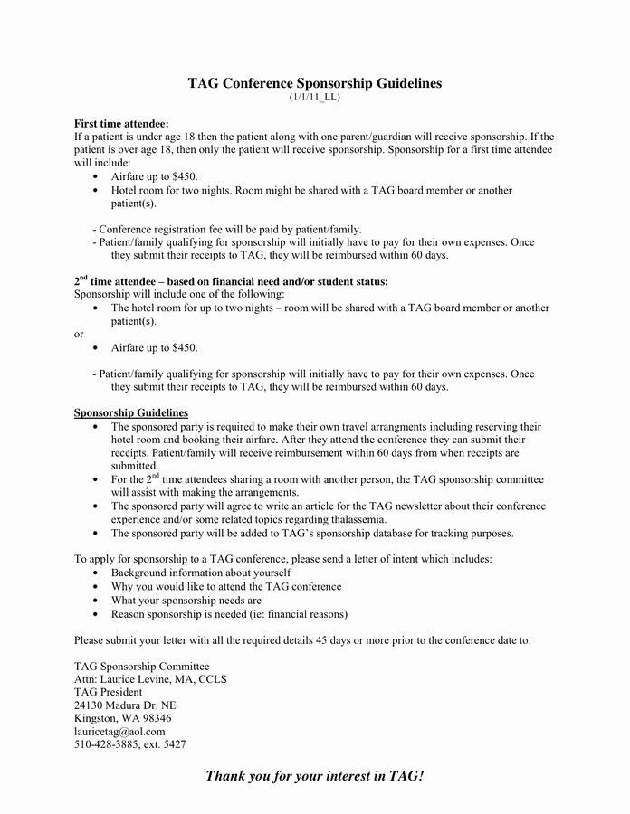 Hotel Request for Proposal Template Best Of Sponsorship Guidelines – Proposal In Word and Pdf formats