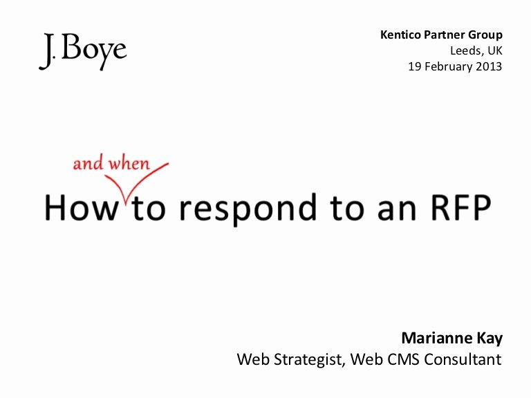 Hotel Request for Proposal Template Lovely How to Respond to An Rfp