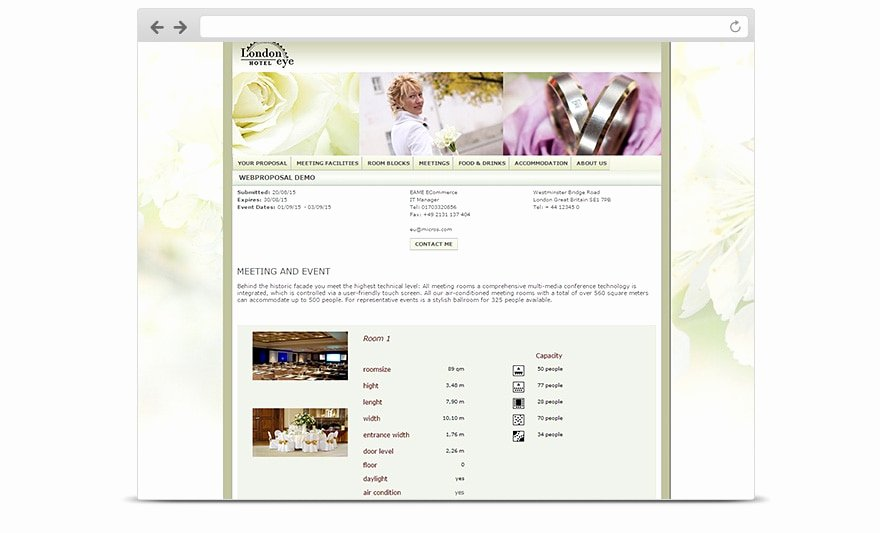 Hotel Request for Proposal Template Unique Hospitality for Hotels Web Proposal L oracle