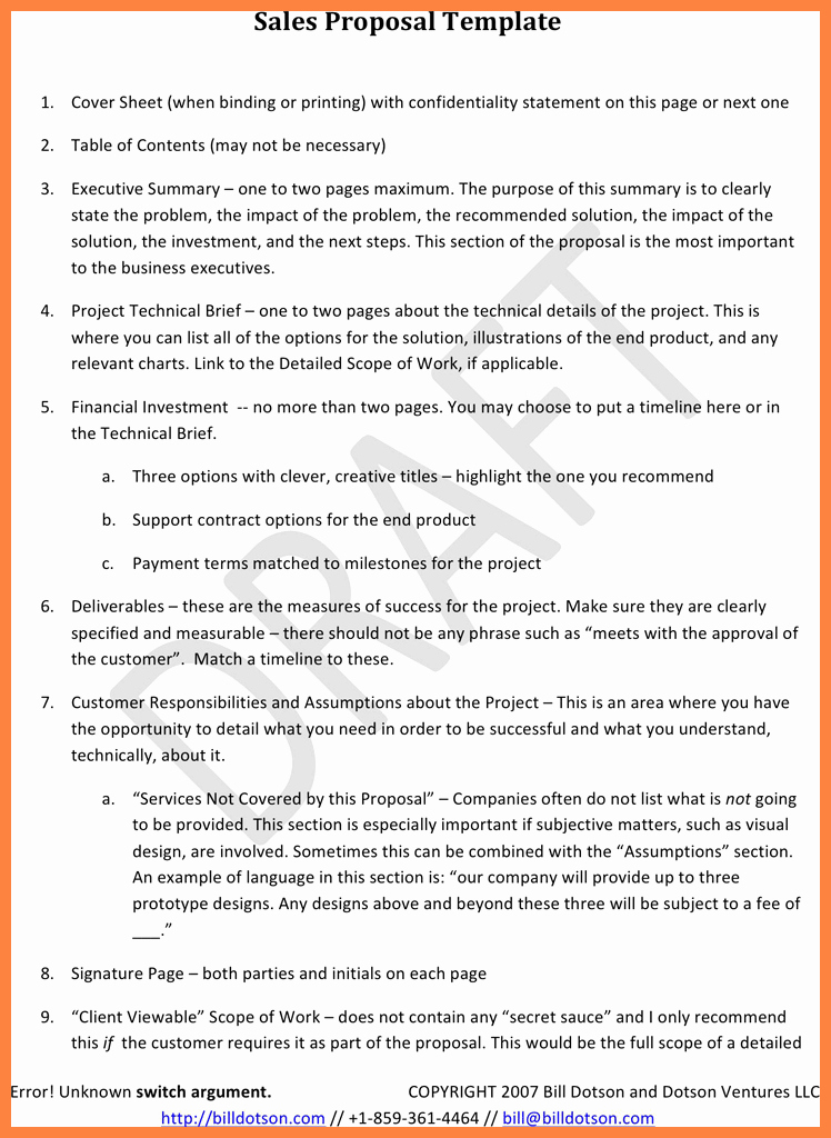 Hotel Rfp Template Awesome 10 Sales Proposal Template