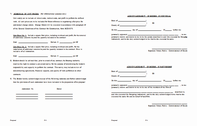 Hotel Rfp Template New Bid Proposal Template 6 Best Proposal Examples
