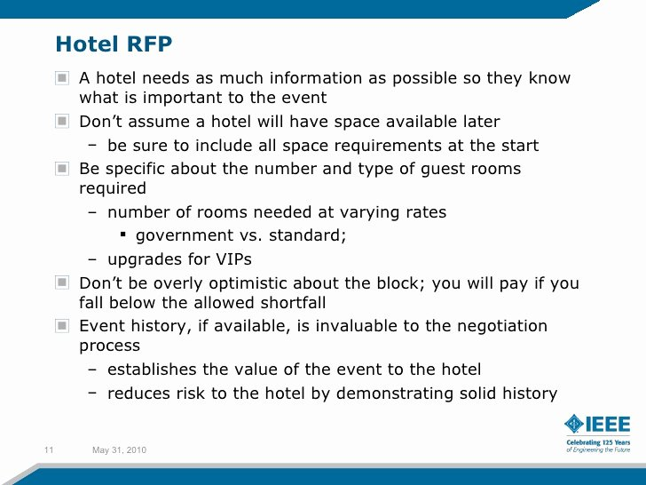 Hotel Rfp Template Unique Planning Your event