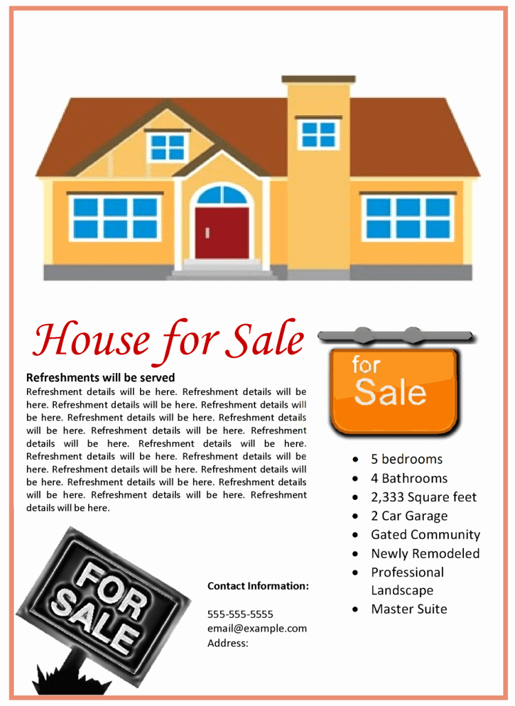 House for Sale Template Elegant House for Sale Flyer Template