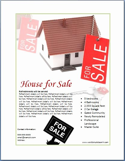 House for Sale Template Elegant Sample Real Estate Poster Template