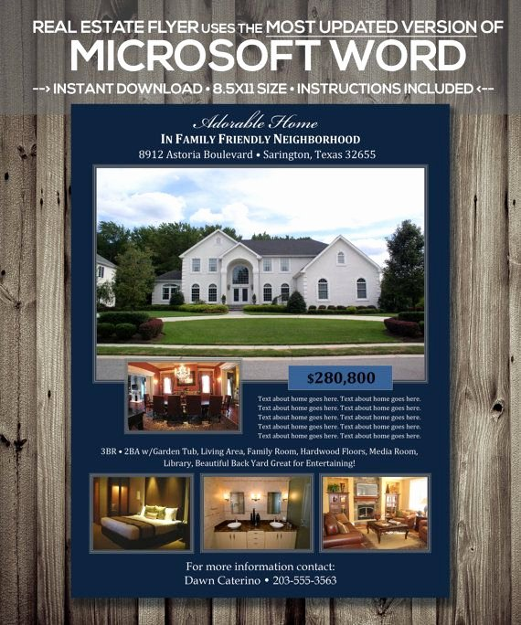 House for Sale Template Lovely Real Estate Flyer Template Microsoft Word by