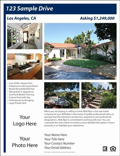 House for Sale Template Luxury for Sale by Owner Flyer House Exterior