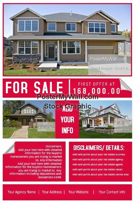 House for Sale Template New Real Estate Agency House Sale Retail Ad Marketing Auction