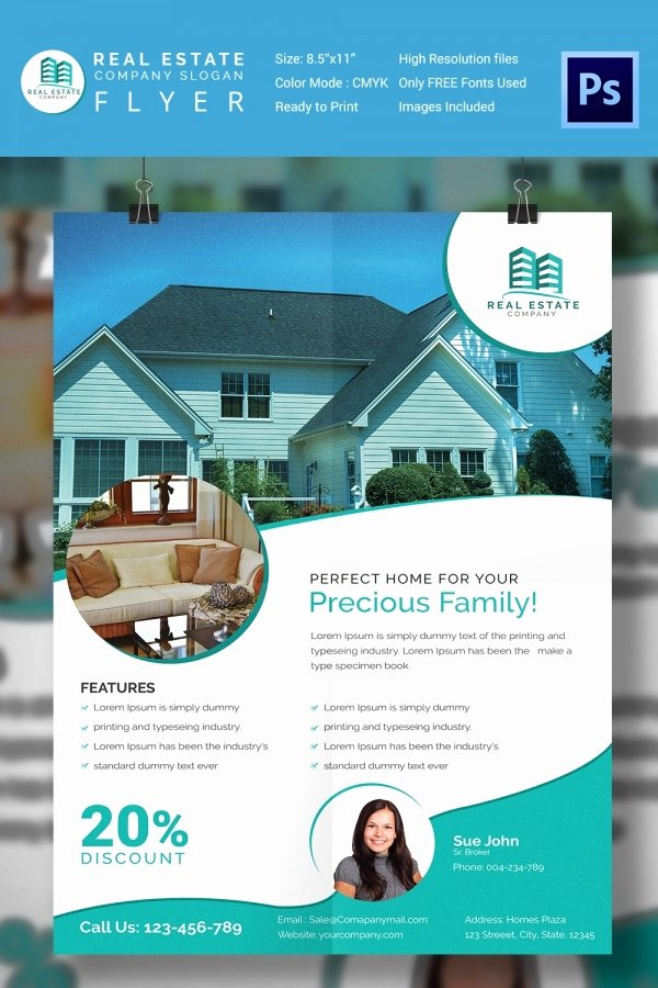 House for Sale Template Unique 15 Stylish House for Sale Flyer Templates & Designs