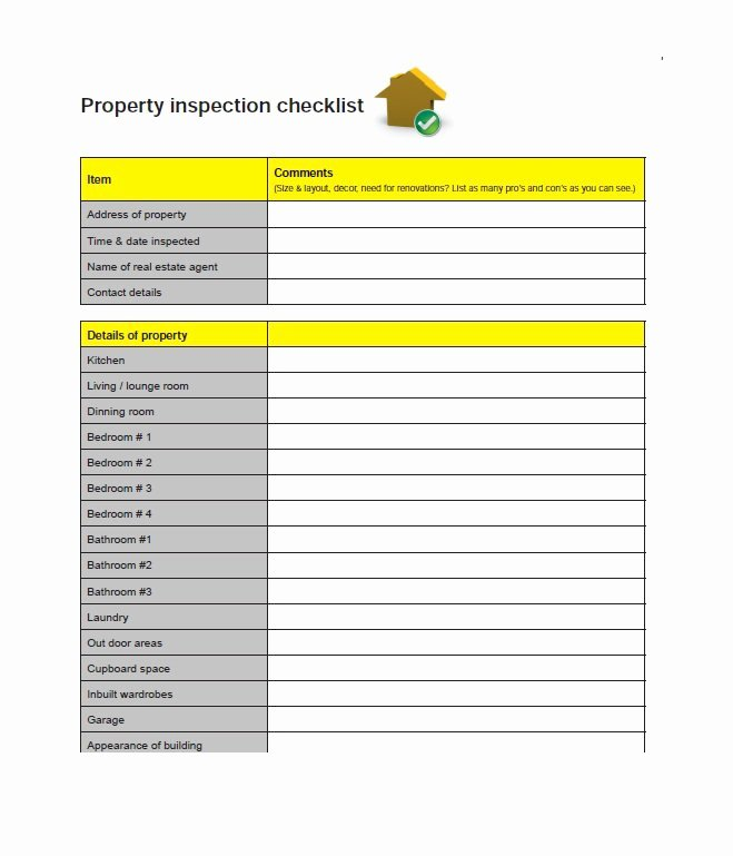 House Inspection Template Lovely 20 Printable Home Inspection Checklists Word Pdf
