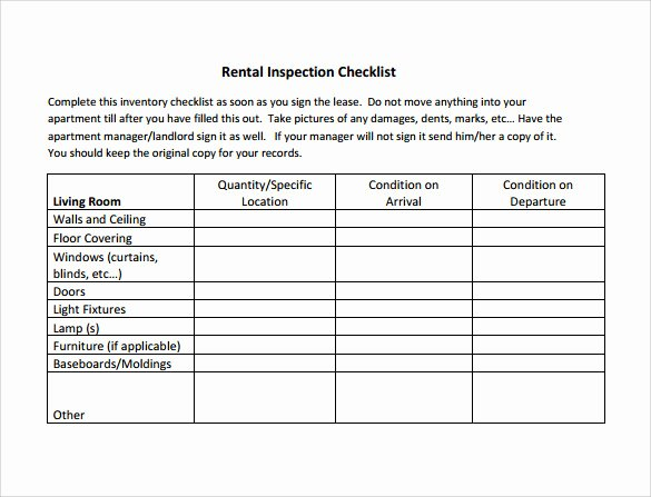 House Inspection Template Luxury Sample Inspection Checklist 18 Documents In Pdf Word