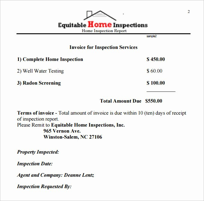 House Inspection Template New 10 Sample Home Inspection Report Templates Word Docs