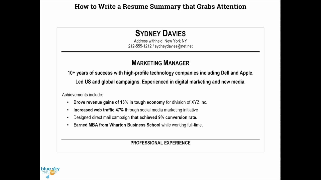 How to Cancel Resume now Fresh How to Write A Resume Summary