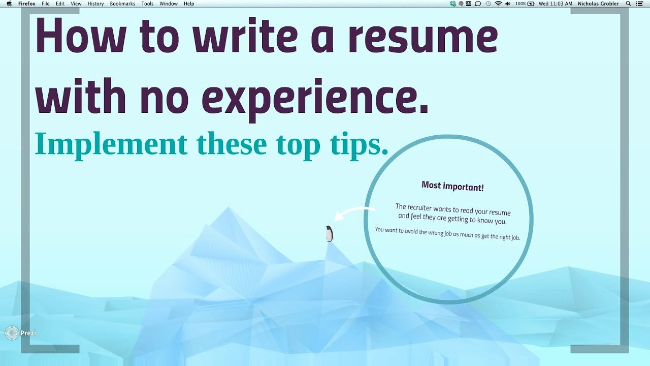 How to Cancel Resume now Unique How to Write A No Work Experience Resume