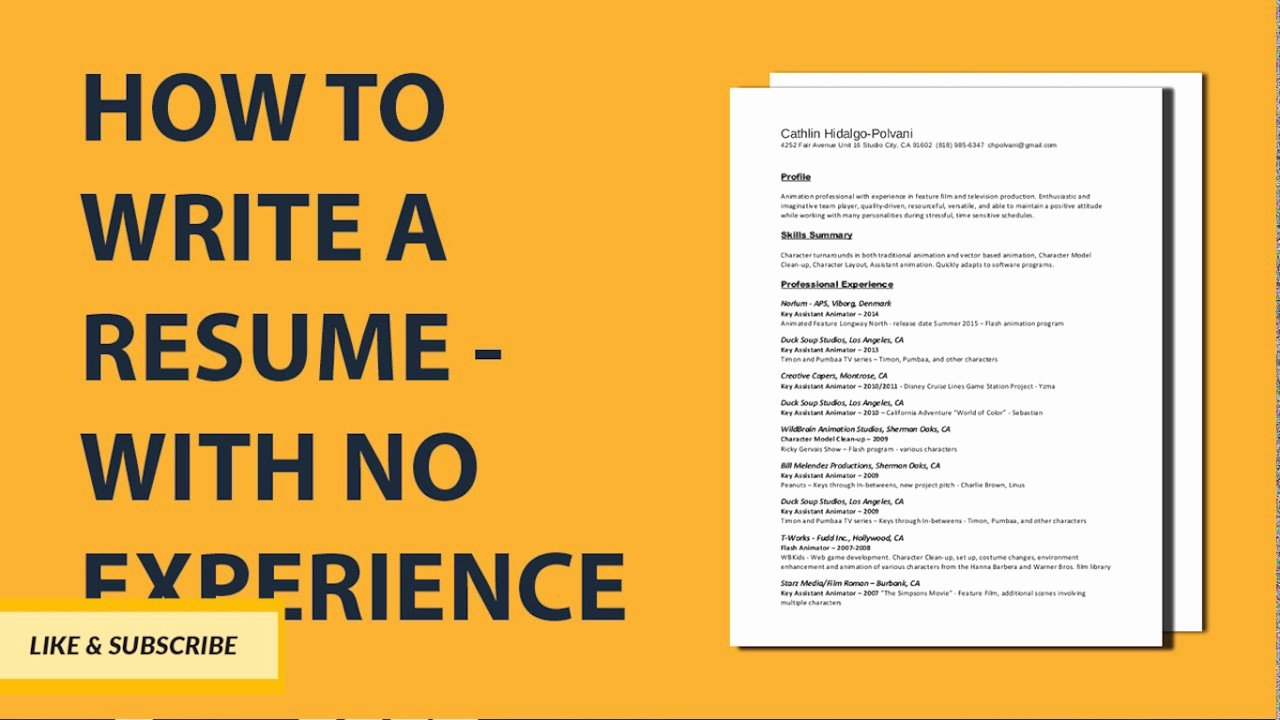 How to Cancel Resume now Unique How to Write A Resume with No Job Experience Step by