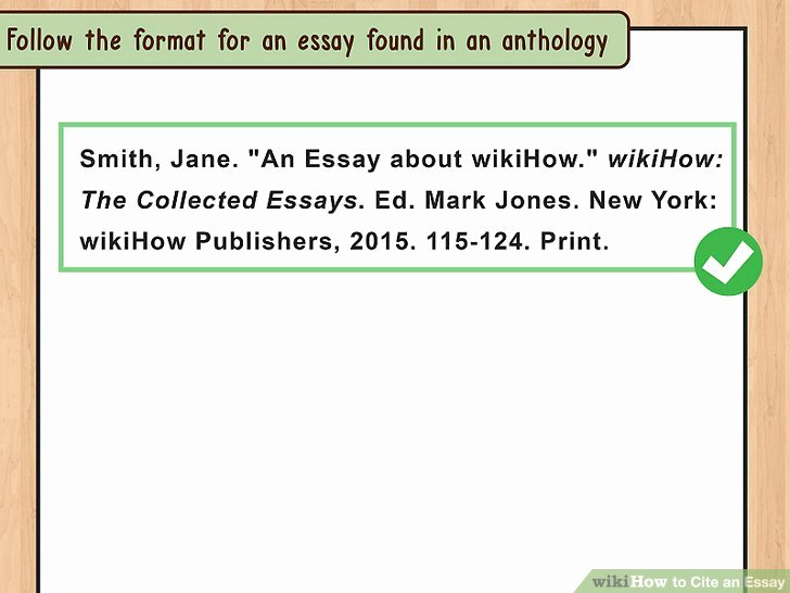 How to Quote An Essay Beautiful 4 Ways to Cite An Essay Wikihow