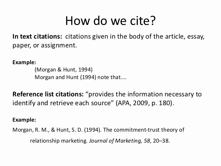 How to Quote An Essay Beautiful Cite It Right Cmns 122 Winter 2012
