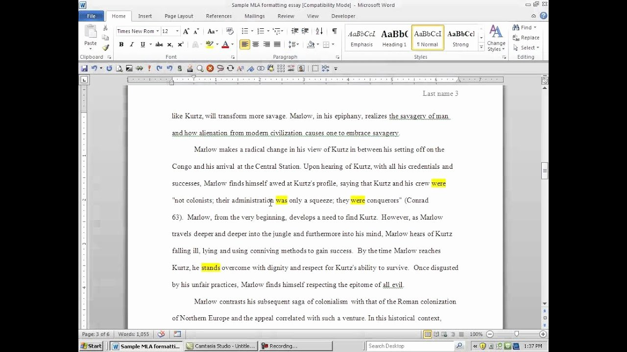 How to Quote An Essay Elegant How to Put A Written Essay Into Mla format