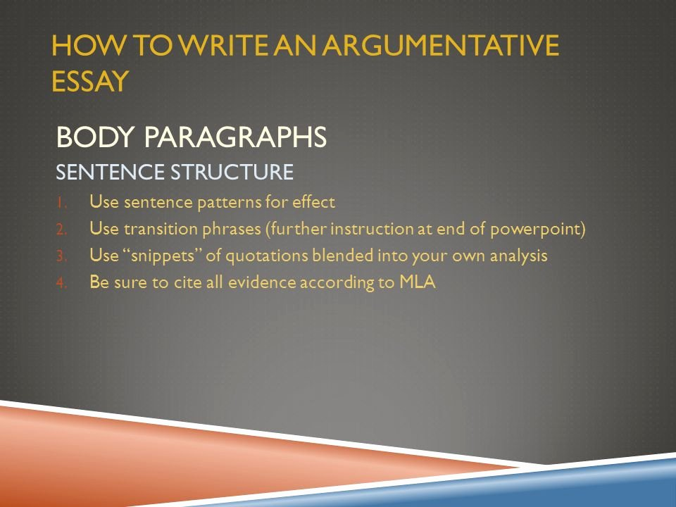 How to Quote An Essay New Argumentative Essay Overview Ppt Video Online