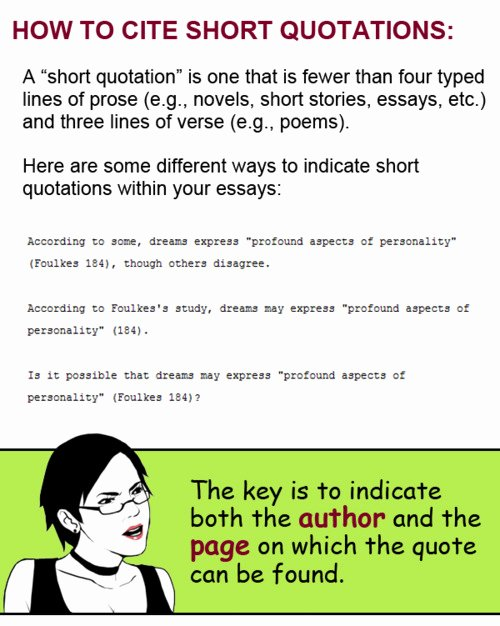 How to Quote An Essay New Citing Quotes In An Essay Quotesgram