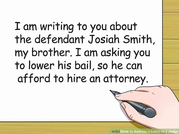 How to Write A Letter to A Judge Template Awesome 3 Ways to Address A Letter to A Judge Wikihow