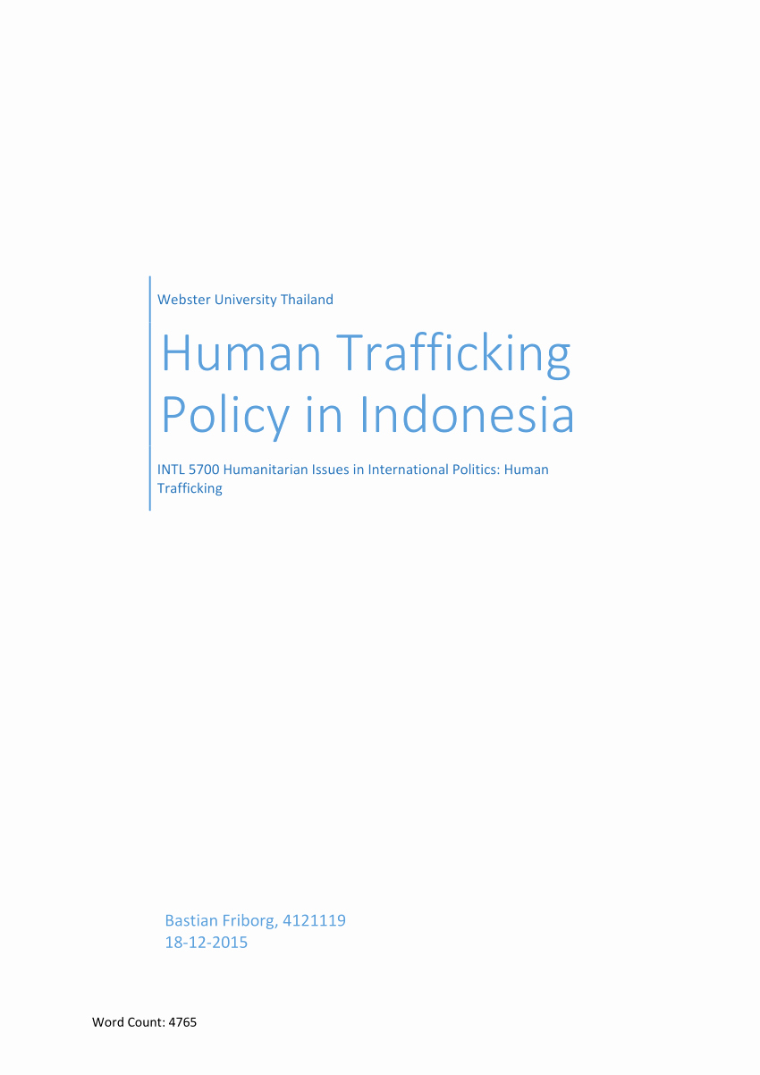 Human Trafficking Research Proposal Luxury Pdf Human Trafficking Policy In Indonesia