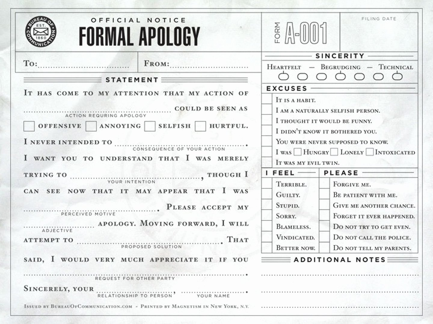 Hurt Feelings Report Template Unique the Last Visible Dog sorry A Useful form