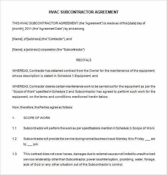 Hvac Proposal Templates Free Best Of 20 Maintenance Contract Templates Docs Word Pages