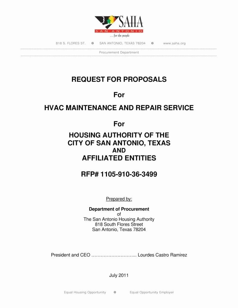 Hvac Proposal Templates Free New 8 Hvac Proposal Templates Pdf