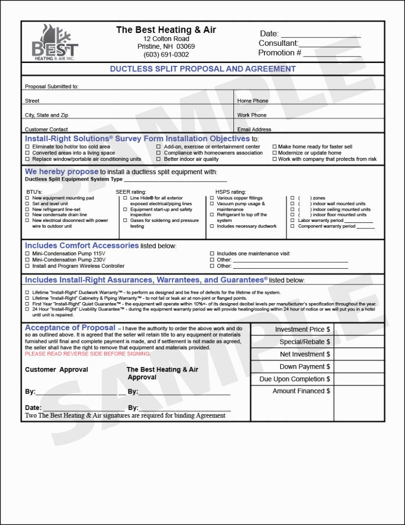Hvac Proposal Templates Free Unique What Will Free Hvac Proposal forms Be Like