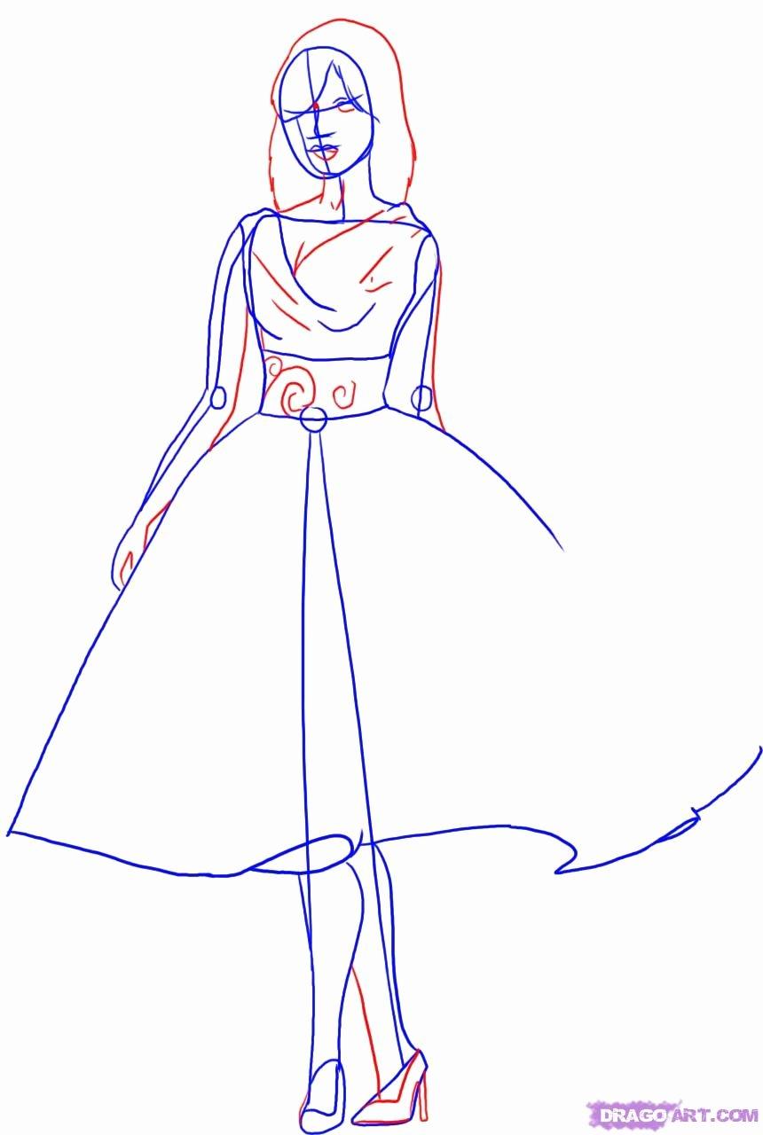 I Draw Fashion Beautiful How to Draw A Fashion Model Step by Step Fashion Pop