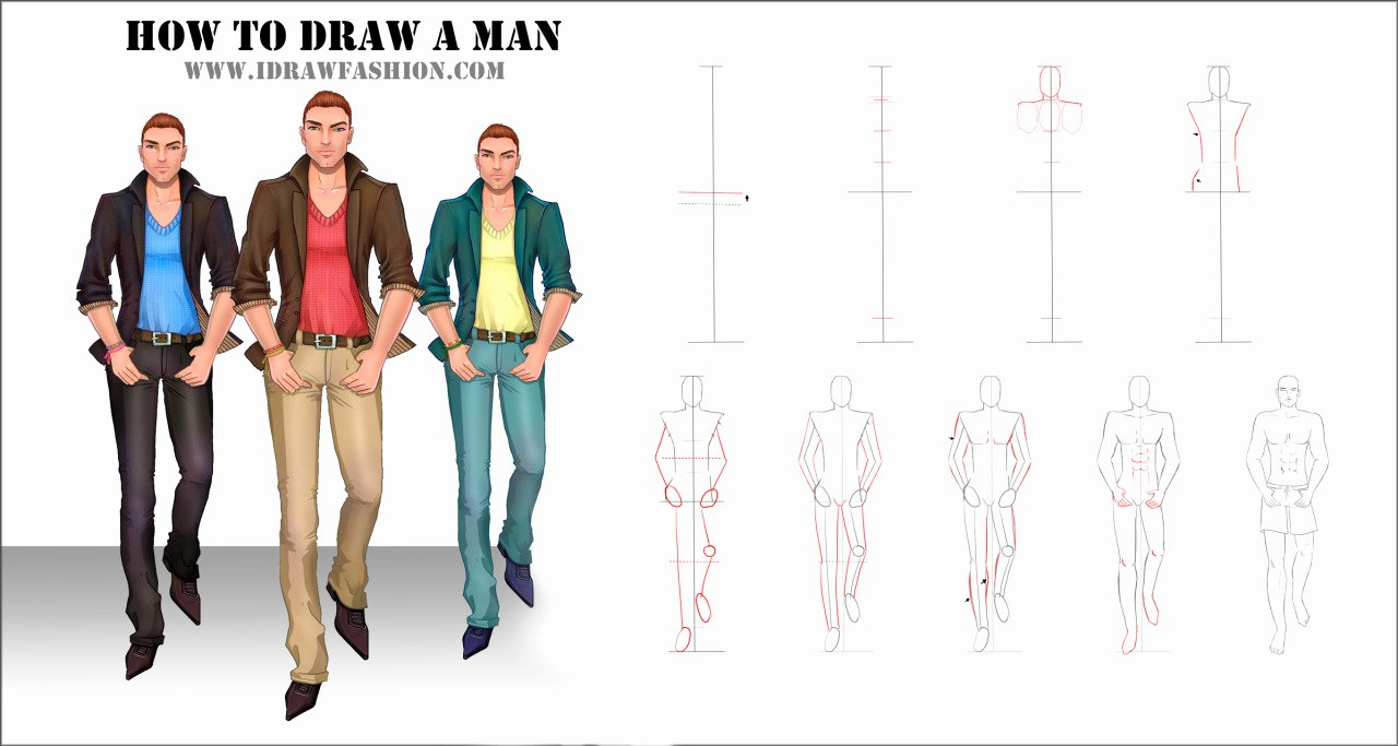 I Draw Fashion Beautiful I Draw Fashion — How to Draw Men In Fashion Sketches Tutorial