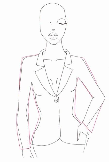 I Draw Fashion Fresh How to Draw A Jacket
