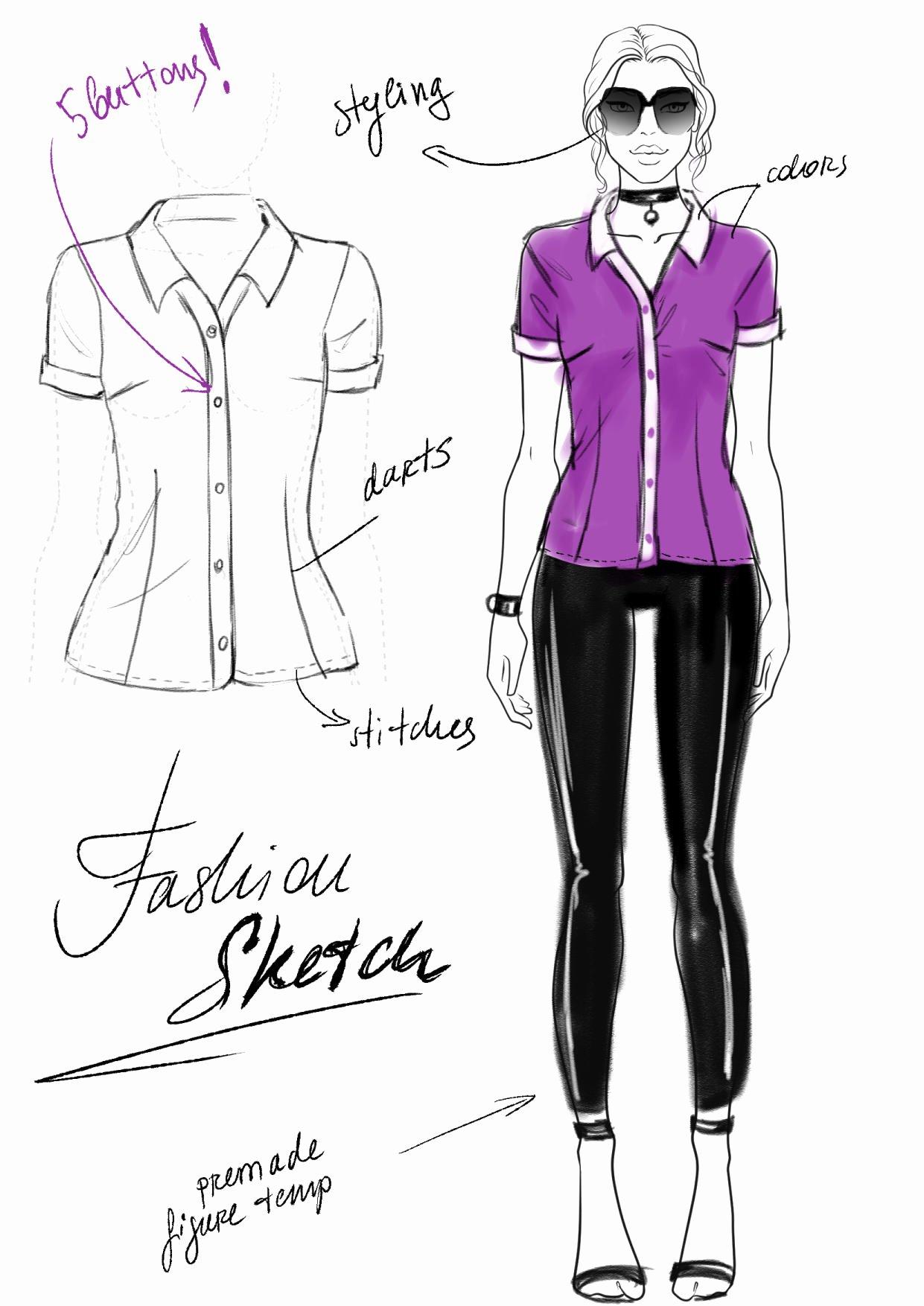 I Draw Fashion Unique Fashion Sketch Vs Fashion Illustration Vs Flats