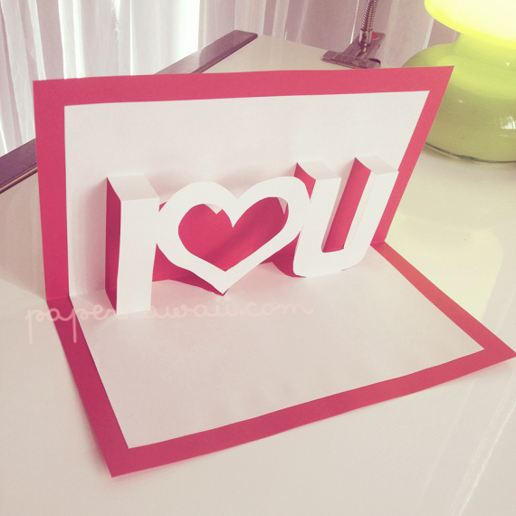 I Love You Pop Up Card Template Awesome 7 Handmade Valentine's Day Ideas