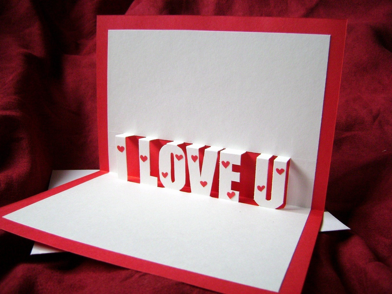 I Love You Pop Up Card Template Awesome I Love You Pop Up Card