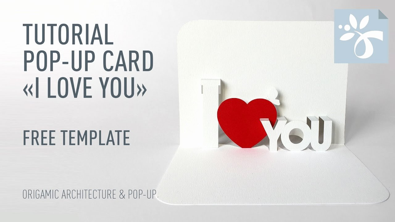 "I Love You Pop Up Card Template Awesome Pop Up Card ""i Love You"""