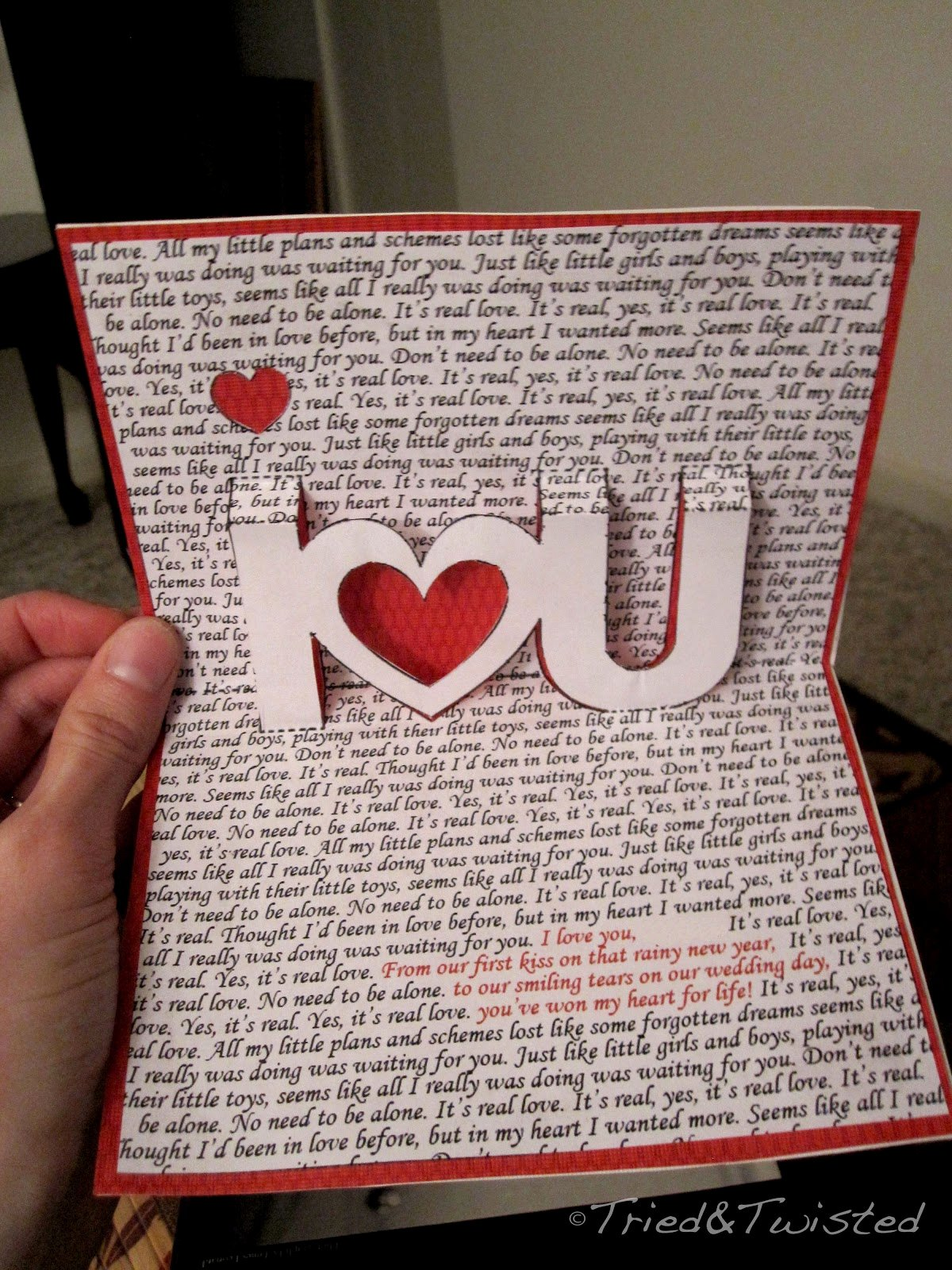 I Love You Pop Up Card Template Elegant Tried and Twisted Pop Up Valentine S Day Card
