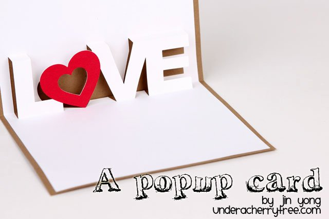 I Love You Pop Up Card Template Elegant Under A Cherry Tree Love A Pop Up Card Free