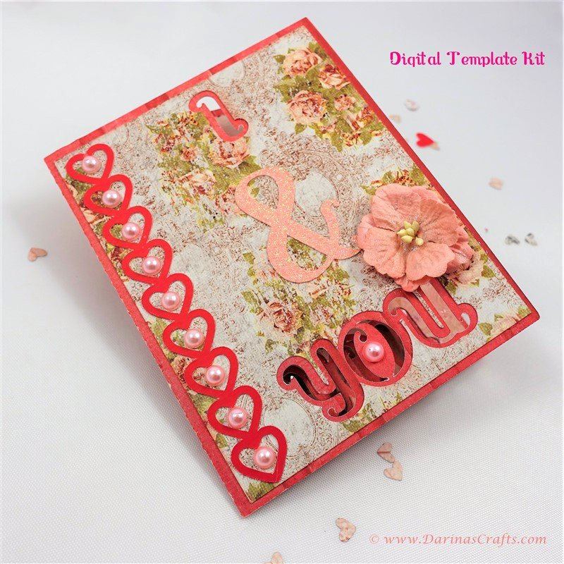 I Love You Pop Up Card Template Fresh I Love You Pop Up Diorama Card Digital Template