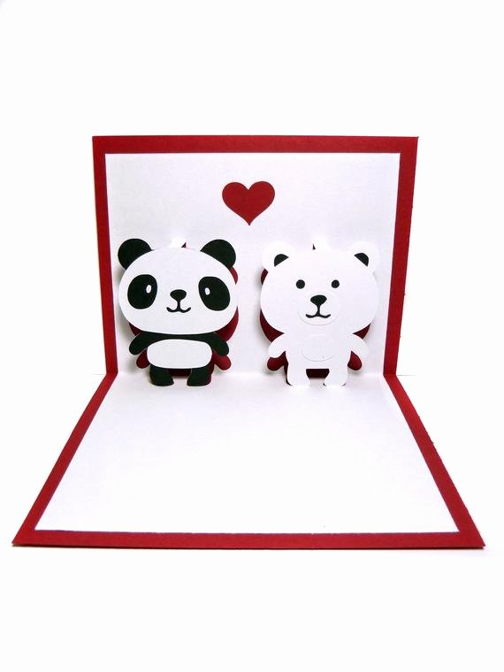 I Love You Pop Up Card Template Lovely Items Similar to Panda and Polar Bear In Love Pop Up Card