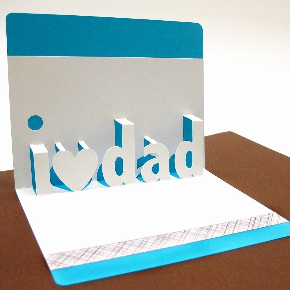 I Love You Pop Up Card Template New I Love Dad Pop Up Card