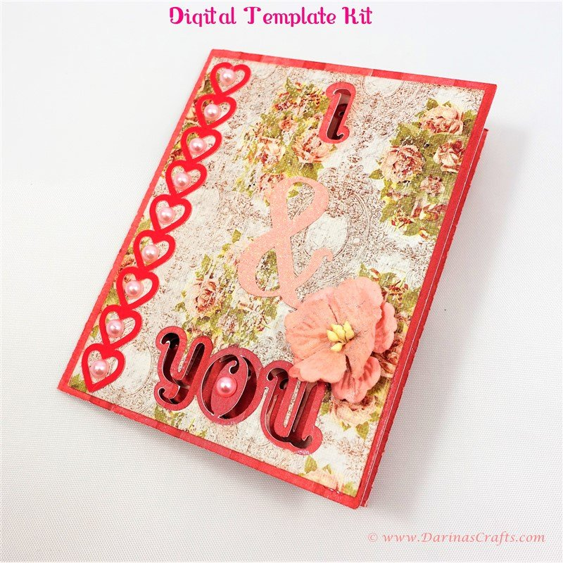 I Love You Pop Up Card Template New I Love You Pop Up Diorama Card Digital Template