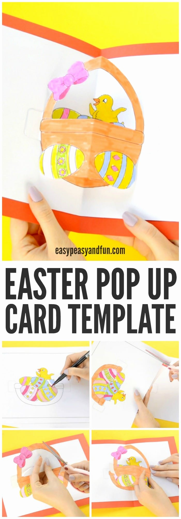 I Love You Pop Up Card Template Unique Diy Easter Pop Up Card Easy Peasy and Fun