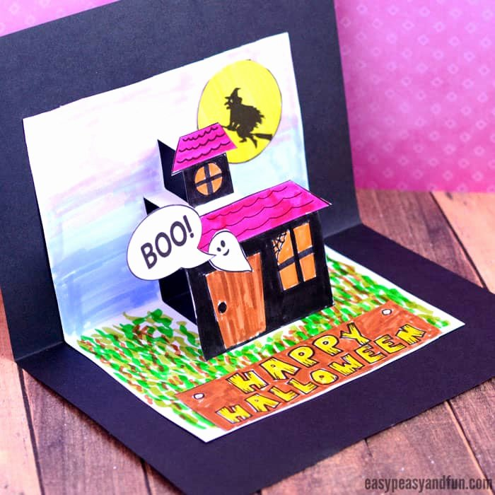 I Love You Pop Up Card Template Unique Halloween Pop Up Card Template Easy Peasy and Fun