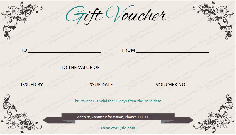 I Owe You Template Lovely Elegant Gift Voucher Template by Get Certificates