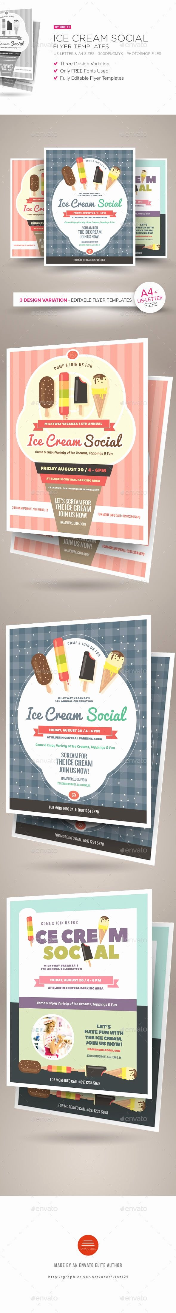 Ice Cream social Flyer Template Awesome Ice Cream social Flyer Templates