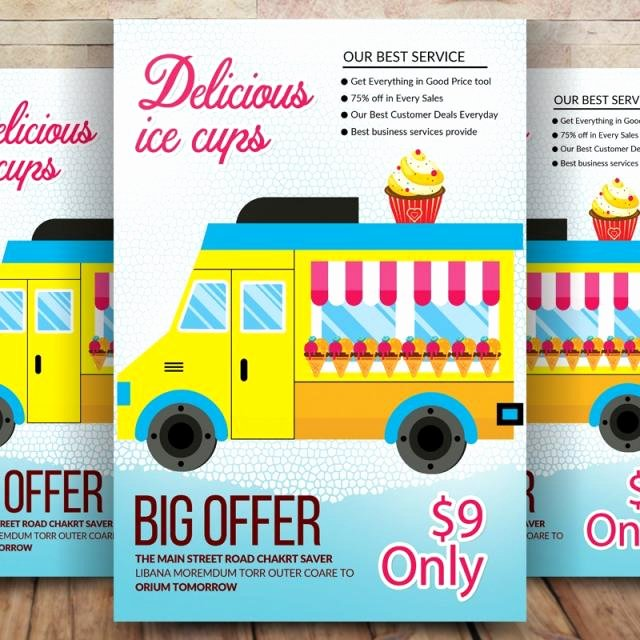 Ice Cream social Flyer Template Beautiful Ice Cream social Flyer Template for Free Download On Tree