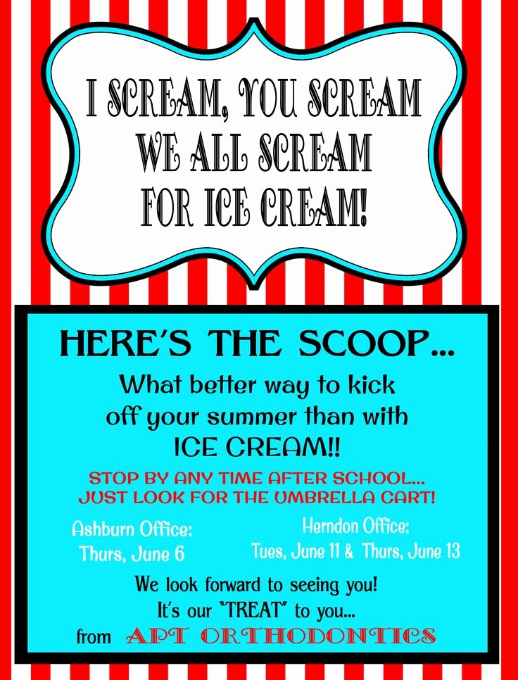 Ice Cream social Flyer Template Elegant Ice Cream social Flyer Template