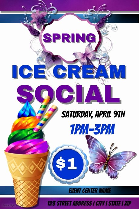 Ice Cream social Flyer Template Free Awesome Ice Cream social Template